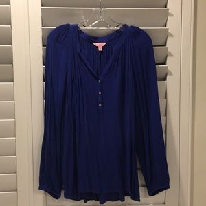 Lilly Pulitzer blue Elsa top size L